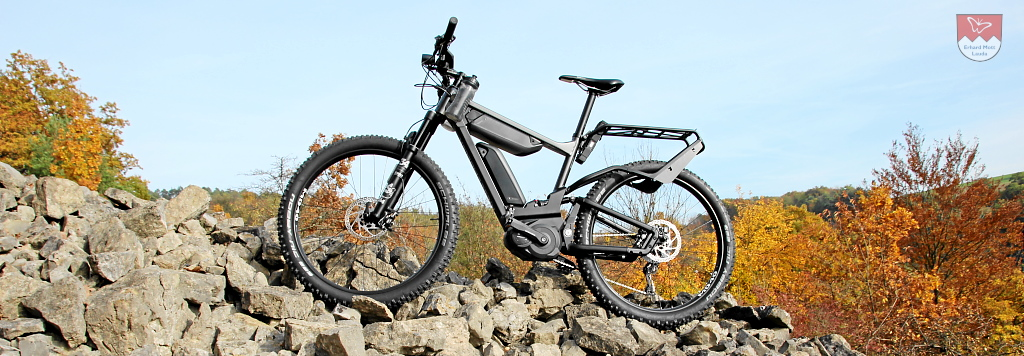 Das Elektro-Mountain-Bike Riese & Müller DELITE Mountain mit Vollfederungstechnik, Bosch Performance CX + Dual Battery 1000Wh